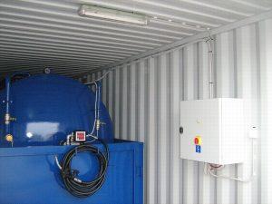 Dieseltank i container